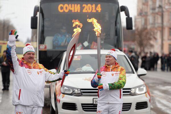 Эстафета Олимпийского огня. Ижевск