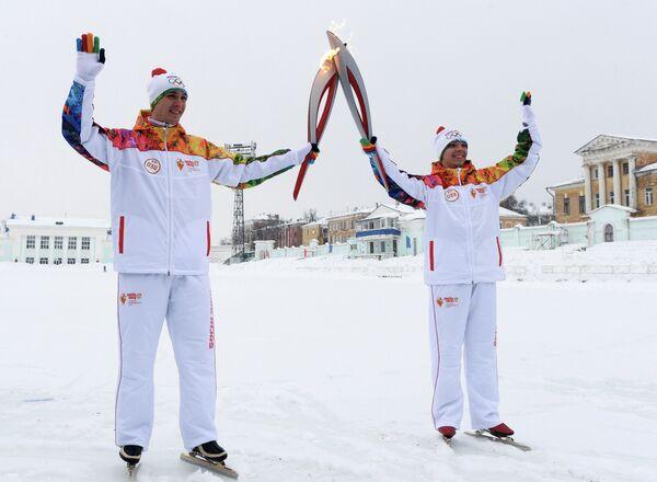 Алексей Суворов и призер Кубка России по конькобежному спорту Константин Огибалов