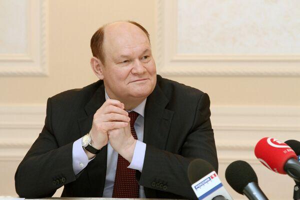 Губернатор Пензенской области Василий Бочкарев на встрече с журналистами