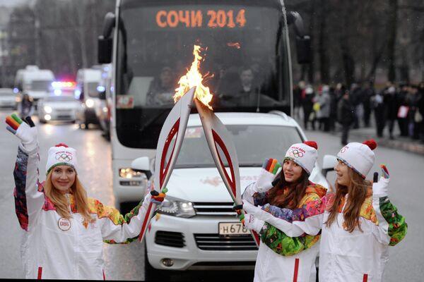 Эстафета олимпийского огня. Липецк