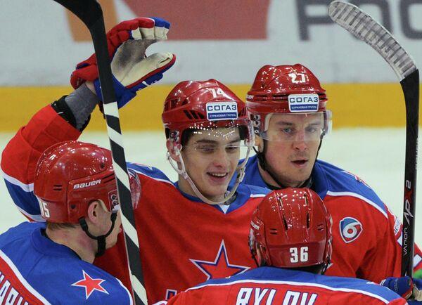 Игровой момент матча ЦСКА - Сибирь