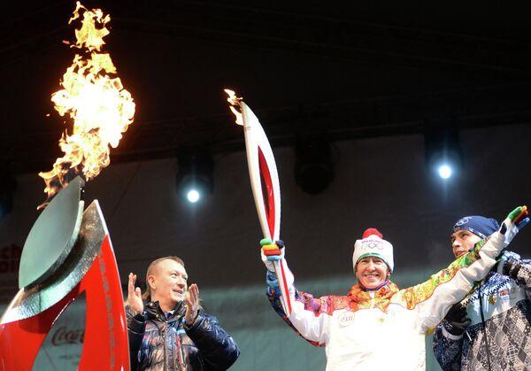 Эстафета Олимпийского огня. Брянск