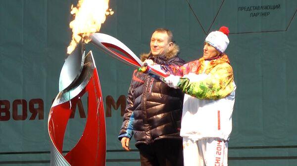 Поездка в упряжке и салют – как огонь ОИ-2014 встречали  в Орле и Брянске