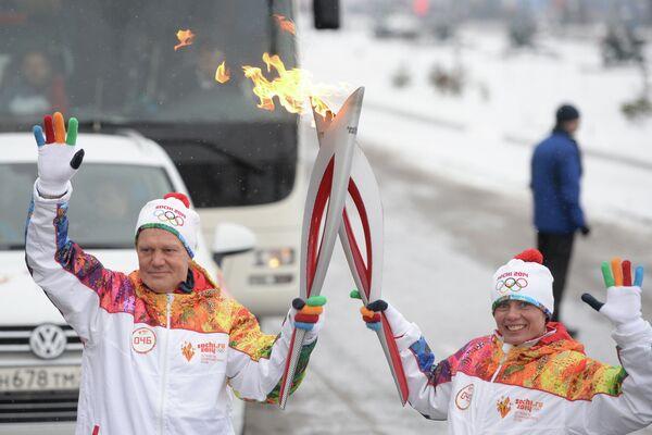 Александр Зубарев и чемпионка Европы и мира по легкой атлетике Лариса Клейменова