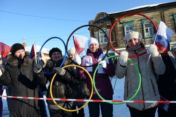 Эстафета олимпийского огня. Урюпинск