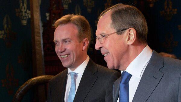Министр иностранных дел России Сергей Лавров и министр иностранных дел Норвегии Берге Бренде. Архивное фото