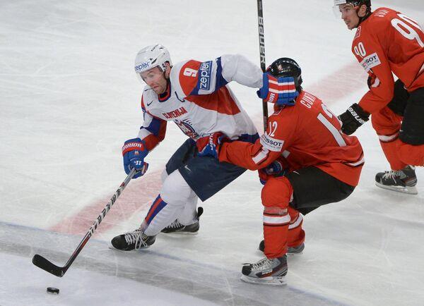 Игрок сборной Словении по хоккею Томаж Разингар