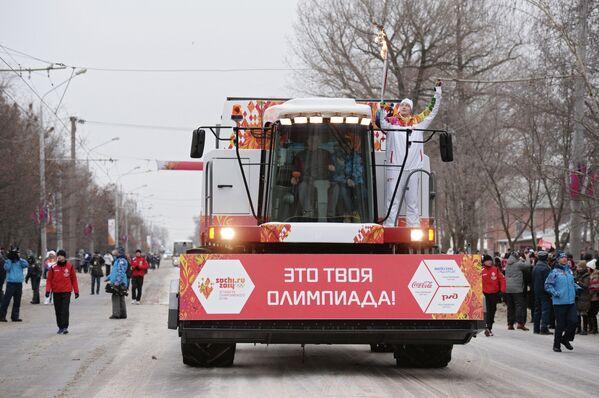 Эстафета Олимпийского огня. Ростов-на-Дону