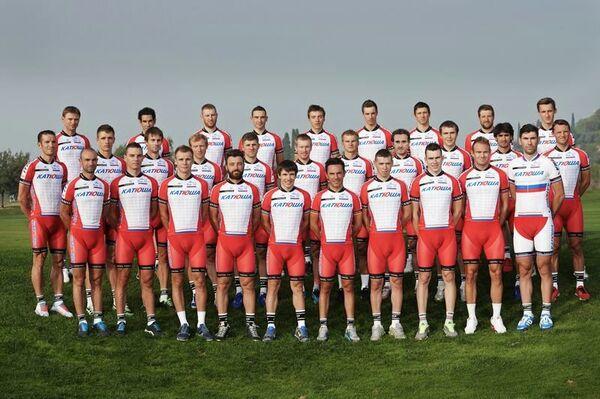 Гонщики российской велокоманды Катюша