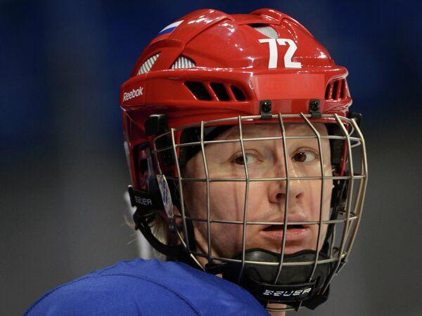 Екатерина Пашкевич (Россия) на тренировке женской сборной России по хоккею