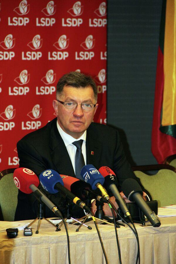 Кандидат на пост премьер-министра нового правительства Литвы Альгирдас Буткявичюс