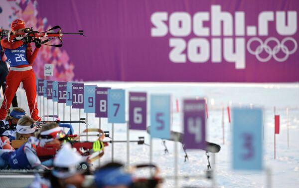 Олимпиада 2014. Биатлон. Тренировки