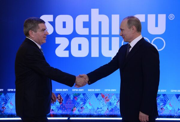 Встреча В.Путина с членам МОК Томасом Бахом