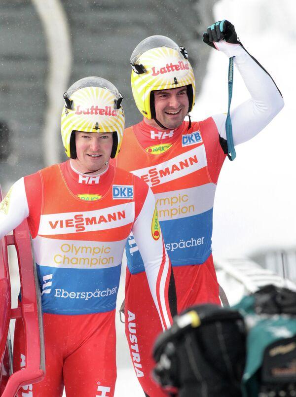 Австрийцы Андреас (на первом плане) и Вольфганг Лингеры