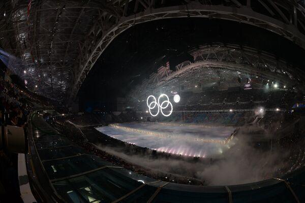 Церемония открытия XXII зимних Олимпийских игр в Сочи.