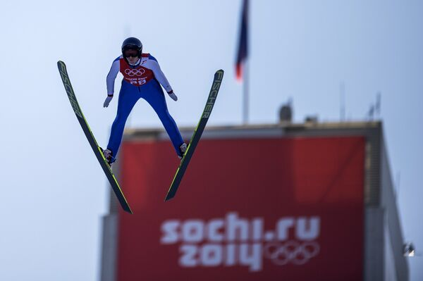 Олимпиада 2014. Прыжки с трамплина. Даниэла Ирашко-Штольц . Средний трамплин. Тренировки