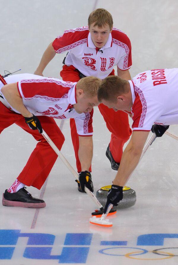 Алексей Стукальский (Россия), Евгений Архипов (Россия) и Петр Дрон (Россия)