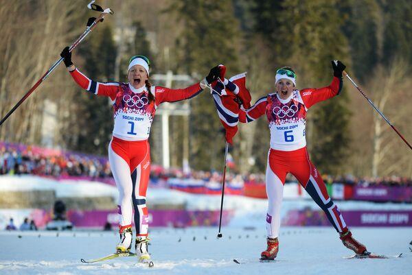 Майкен Касперсен Фалла и Ингвильд Флугстад Эстберг (слева направо)