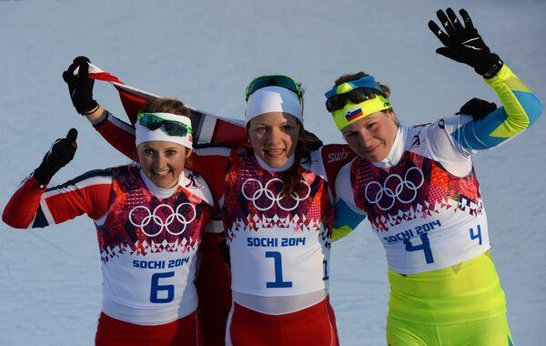 Ингвильд Флугстад Эстберг, Майкен Касперсен Фалла и Весна Фабьян (слева направо)