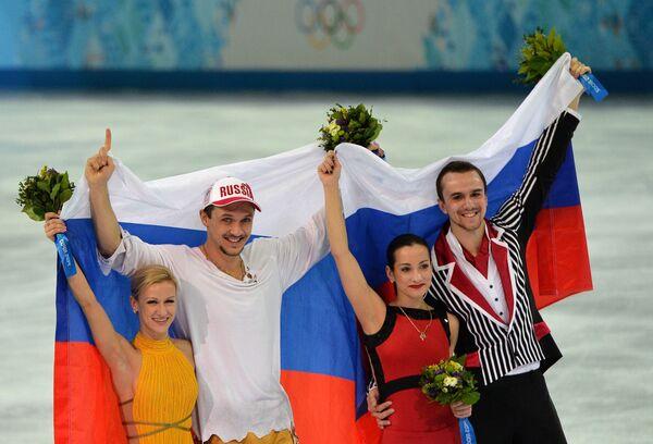 Татьяна Волосожар и Максим Траньков (Россия) - золотые медали, Ксения Столбова и Федор Климов (Россия) - серебряные медали.