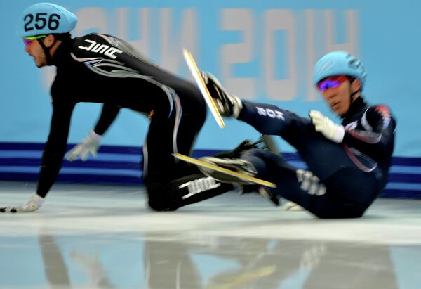 Олимпиада 2014. Шорт-трек. Мужчины. Эстафета. Полуфиналы
