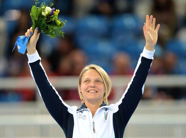 Арианна Фонтана (Италия), завоевавшая бронзовую медаль в забеге на 1500 метров