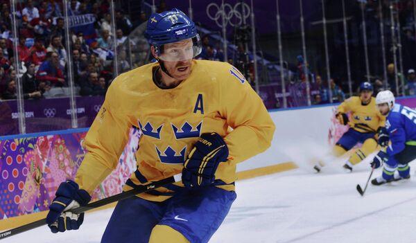 Нападающий сборной Швеции по хоккею Даниэль Альфредссон