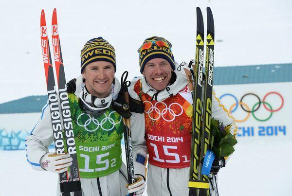 Эмиль Йёнссон и Теодор Петерсон (слева направо)