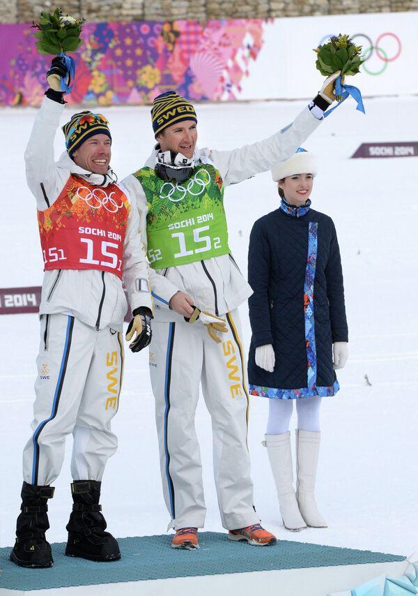 Эмиль Йёнссон и Теодор Петерсон (справа налево)
