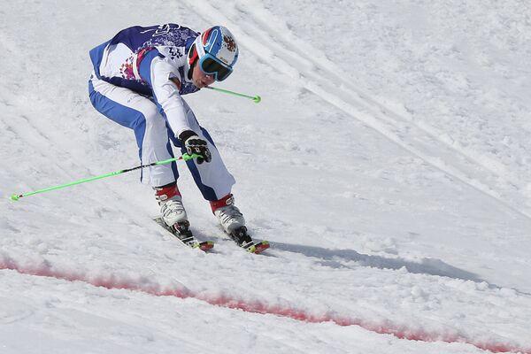 Егор Коротков (Россия) в малом финале ски-кросса
