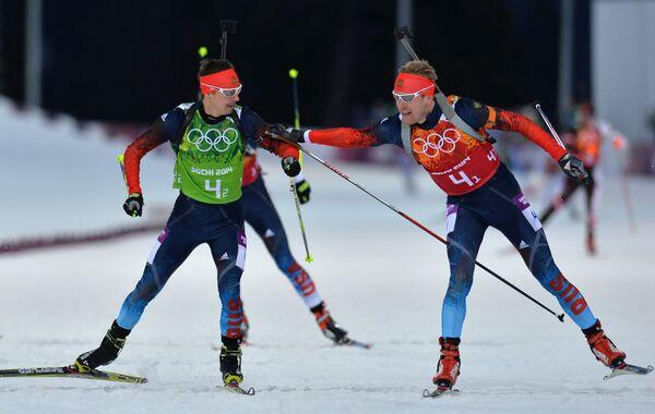 Слева направо: Евгений Устюгов (Россия), Алексей Волков (Россия)