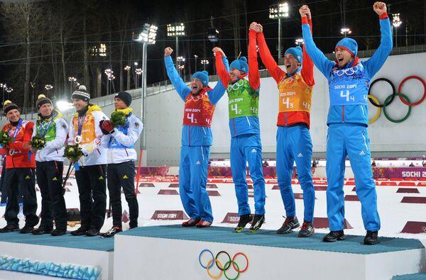 Олимпиада 2014. Биатлон. Мужчины. Эстафета