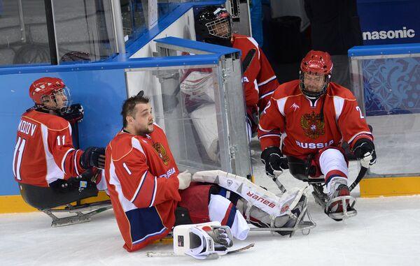 Паралимпиада 2014. Следж-хоккей. Матч Россия - Южная Корея