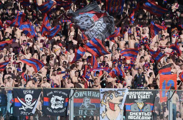 Болельщики ЦСКА во время матча