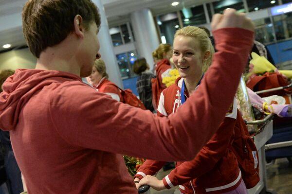 Член женской сборной России по керлингу Александра Саитова