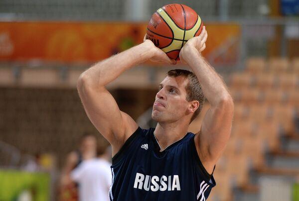 Баскетболист сборной России Сергей Моня