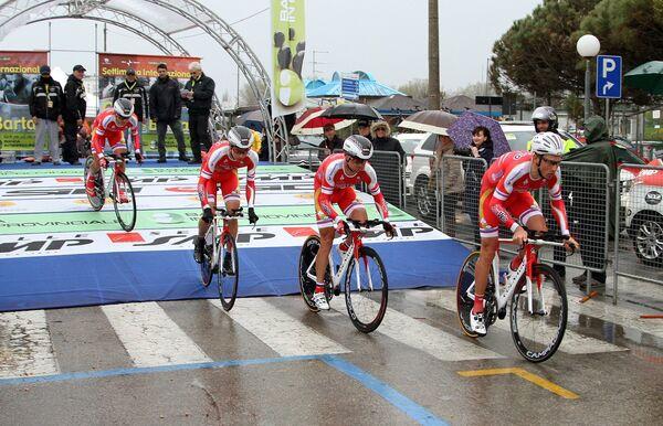 Велогонщики российской проконтинентальной команды Русвело