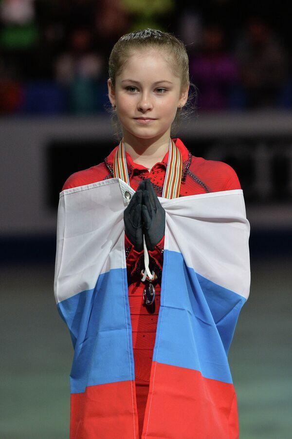 Юлия Липницкая (Россия), завоевавшая серебряную медаль