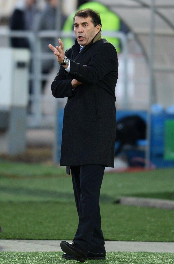 Главный тренер Терека Рашид Рахимов во время матча против Крыльев Советов
