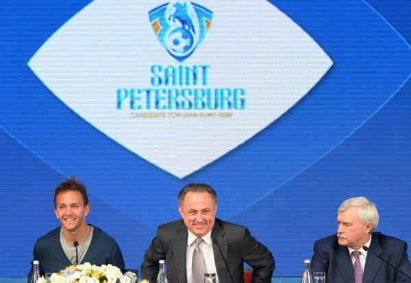 Доменико Кришито, Виталий Мутко и Георгий Полтавченко (слева направо)