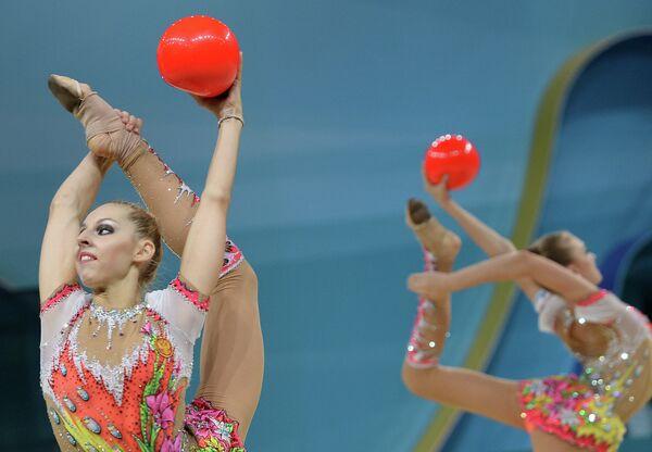 Российская гимнастка Анастасия Близнюк
