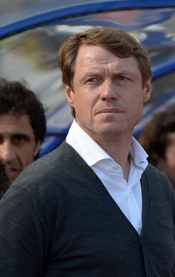 Главный тренер Краснодара Олег Кононов в матче 28-го тура чемпионата России по футболу