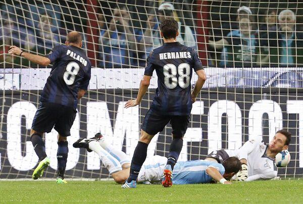 Игровой момент матча Интер - Лацио