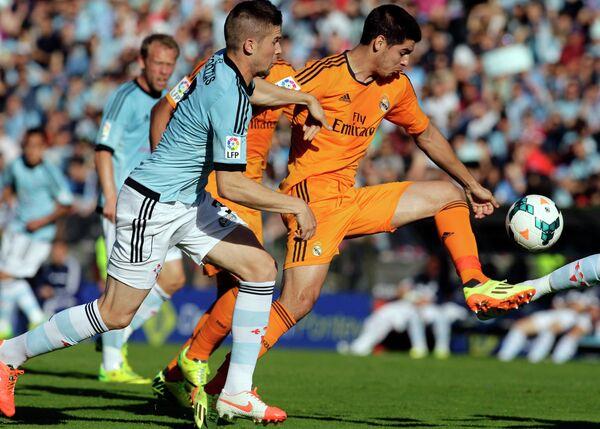 Игровой момент матча Сельта - Реал