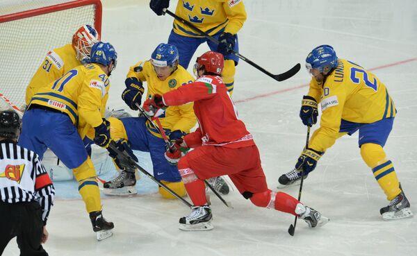 Хоккей. Чемпионат мира. Матч Швеция - Белоруссия
