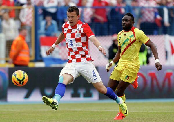 Игровой момент матча Хорватия-Мали