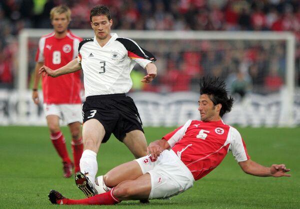 Игровой момент матча Германия-Швейцария