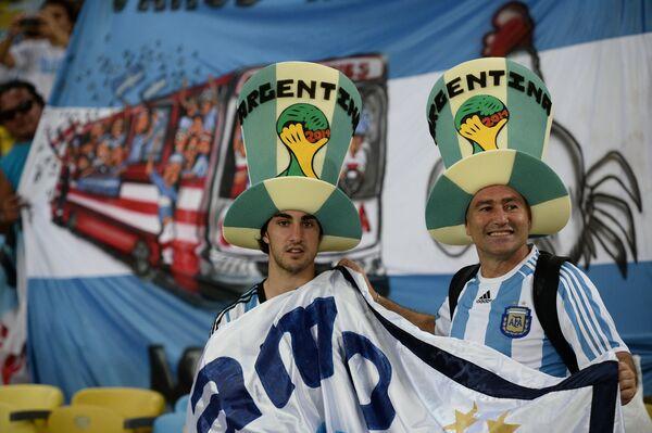На фото: болельщики сборной Аргентины.