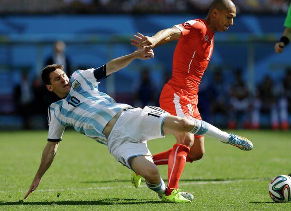 Игровой момент матча Аргентина-Швейцария