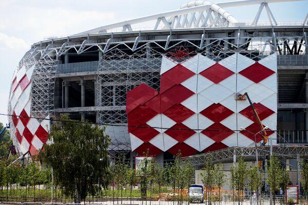 Вид на стадион Открытие Арена футбольного клуба Спартак